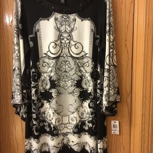 **SALE**  Black and White Dress